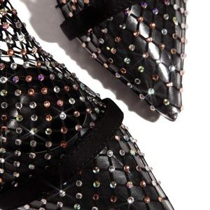Florence Rhinestone Fishnet Stiletto Boot